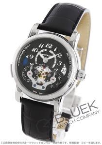 モンブラン ニコラ・リューセック オープン ホームタイム クロノグラフ アリゲーターレザー 腕時計 メンズ MONTBLANC 107070