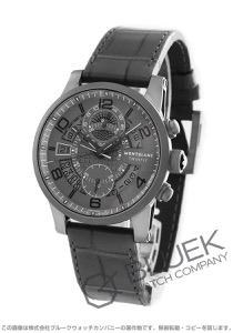 モンブラン タイムウォーカー ツインフライ クロノグラフ アリゲーターレザー 腕時計 メンズ MONTBLANC 107338
