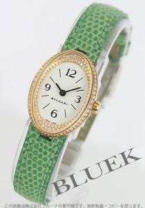 ブルガリ オーバル ダイヤ YG金無垢 リザードレザー 腕時計 レディース BVLGARI OV27GL/RC1