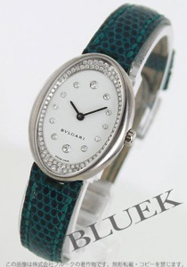 ブルガリ オーバル ダイヤ WG金無垢 リザードレザー 腕時計 レディース BVLGARI OVW32GL/R12