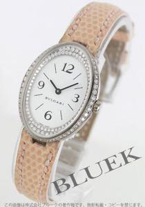 ブルガリ オーバル ダイヤ WG金無垢 リザードレザー 腕時計 レディース BVLGARI OVW32GL/RC1