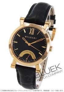 ブルガリ ソティリオ ブルガリ レトログラード PG金無垢 アリゲーターレザー 腕時計 メンズ BVLGARI SBP42BGLDR