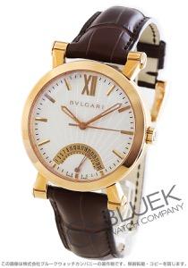 ブルガリ ソティリオ ブルガリ レトログラード PG金無垢 アリゲーターレザー 腕時計 メンズ BVLGARI SBP42WGLDR