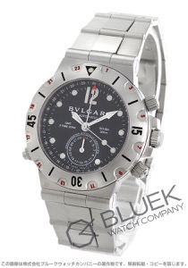 ブルガリ ディアゴノ プロフェッショナル クロノグラフ GMT スクーバ 腕時計 メンズ BVLGARI SD38SSDGMT