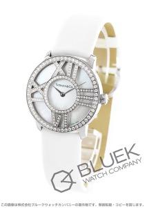 ティファニー アトラス ダイヤ WG金無垢 サテンレザー 腕時計 レディース TIFFANY Z1901.10.40E91A40B