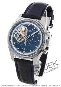 ゼニス エル プリメロ クロノマスター オープン クロノグラフ アリゲーターレザー 腕時計 メンズ Zenith 03.20416.4061/51.C700
