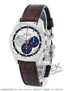 ゼニス エル プリメロ クロノマスター 36000VpH クロノグラフ アリゲーターレザー 腕時計 メンズ Zenith 03.2150.400/69.C713