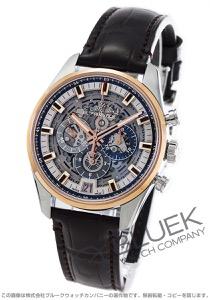 ゼニス エル プリメロ クロノマスター フルオープン クロノグラフ アリゲーターレザー 腕時計 メンズ Zenith 51.2081.400/78.C810