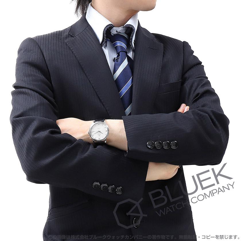 オメガ OMEGA デビル プレステージ アリゲーターレザー メンズ 424.13.40.20.02.001