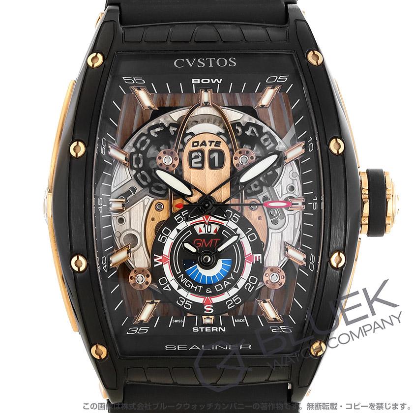 クストス チャレンジ シーライナー 世界限定20本 GMT 腕時計 メンズ Cvstos CVT-SEA-GMT-CP-5N-BST