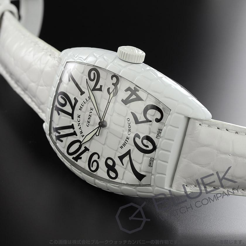 フランクミュラー トノーカーベックス ホワイトクロコ クロコレザー メンズ 8880 SC WHT CRO