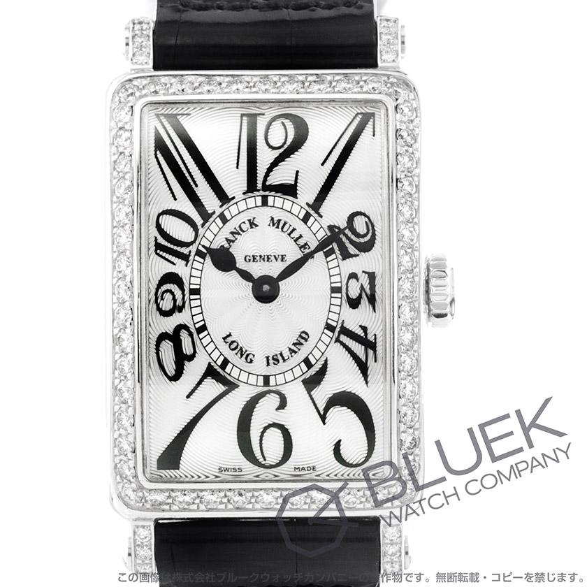 フランクミュラー ロングアイランド ダイヤ クロコレザー 腕時計 レディース FRANCK MULLER 902 QZ D 1R[FM902QZDSSSLENBK]