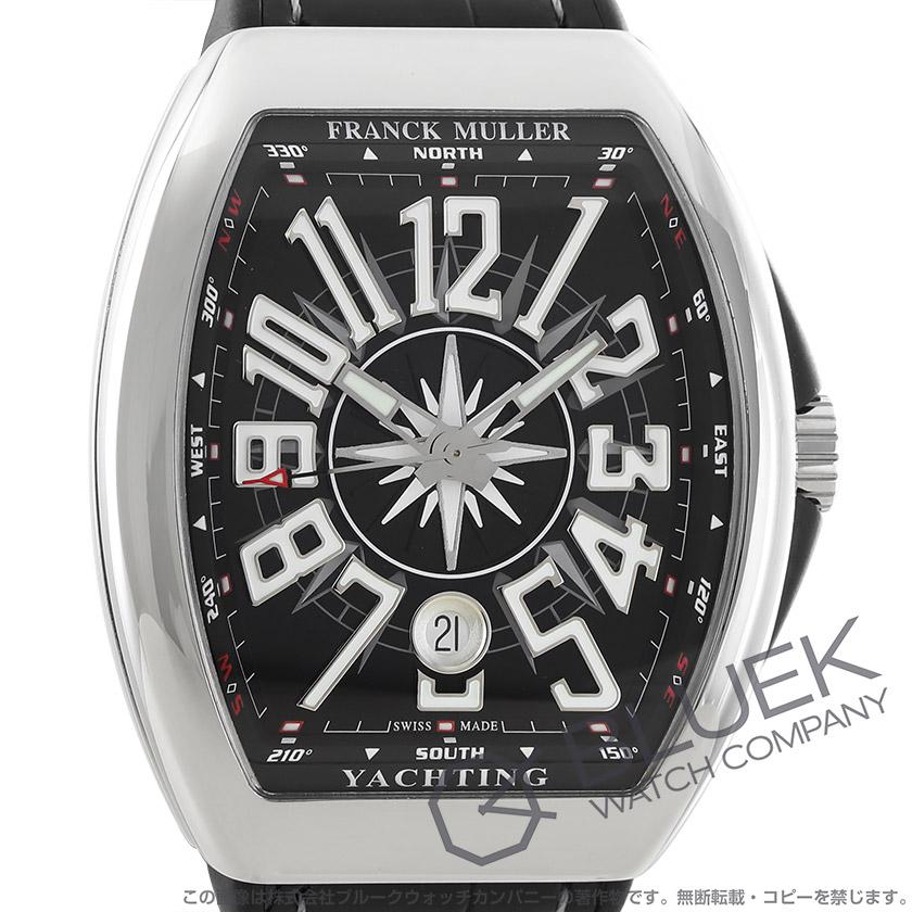 フランクミュラー ヴァンガード ヨッティング クロコレザー 腕時計 メンズ FRANCK MULLER V 41 SC DT AC NR YACHTING[FMV41SCYTPLSSBKLZBK]