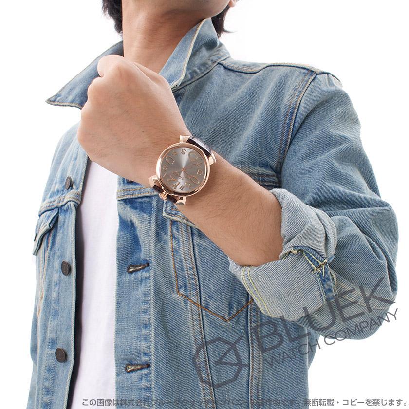 ガガミラノ マヌアーレ シン46MM リザードレザー メンズ 5091.04