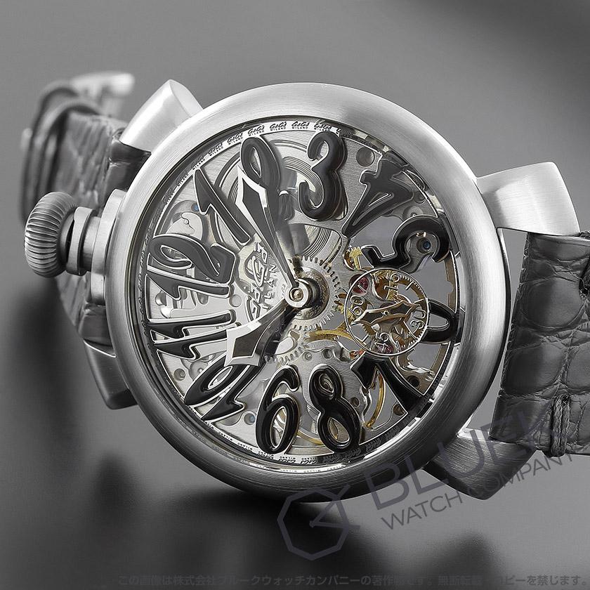 ガガミラノ マヌアーレ48MM スケルトン 腕時計 メンズ GaGa MILANO 5310.02