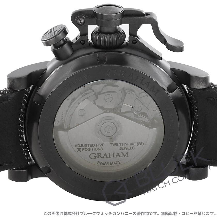 グラハム クロノファイター ヴィンテージ エアクラフト リミテッドエディション 世界限定250本 クロノグラフ キャンパスレザー メンズ 2CVAV.B19A.T39F