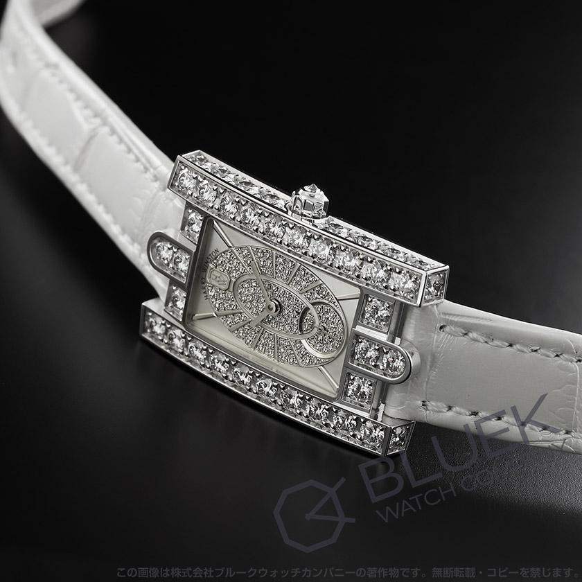 ハリーウィンストン アヴェニュー エリプティック ダイヤ WG金無垢 クロコレザー レディース AVEQHM21WW241
