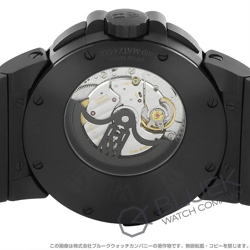 ハリーウィンストン オーシャン デュアルタイム ブラックエディション パワーリザーブ メンズ OCEATZ44ZZ007