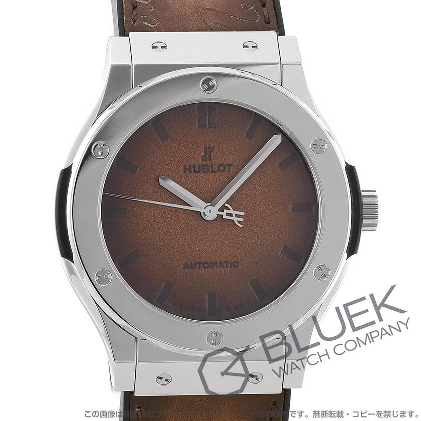 ウブロ クラシック フュージョン ベルルッティ スクリット プラチナム 世界限定100本 腕時計 メンズ HUBLOT 511.TX.050T.VR.BER16