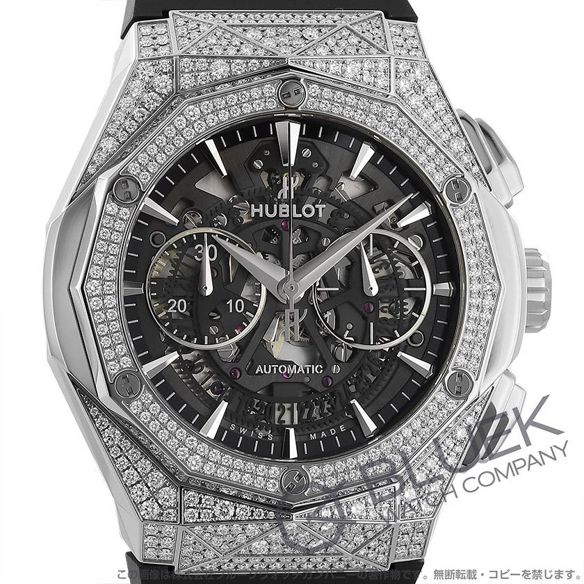 ウブロ クラシック フュージョン アエロ フュージョン オーリンスキー チタニウム パヴェ クロノグラフ 腕時計 メンズ HUBLOT 525.NX.0170.RX.1704.ORL18