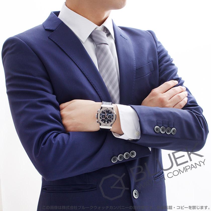 ウブロ クラシック フュージョン チタニウム クロノグラフ アリゲーターレザー 腕時計 メンズ HUBLOT 541.NX.1171.LR
