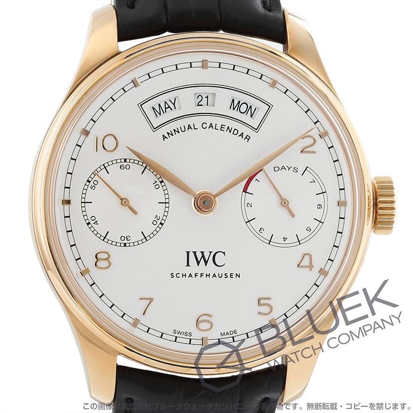 IWC ポルトギーゼ アニュアル・カレンダー パワーリザーブ RG金無垢 アリゲーターレザー メンズ IW503504