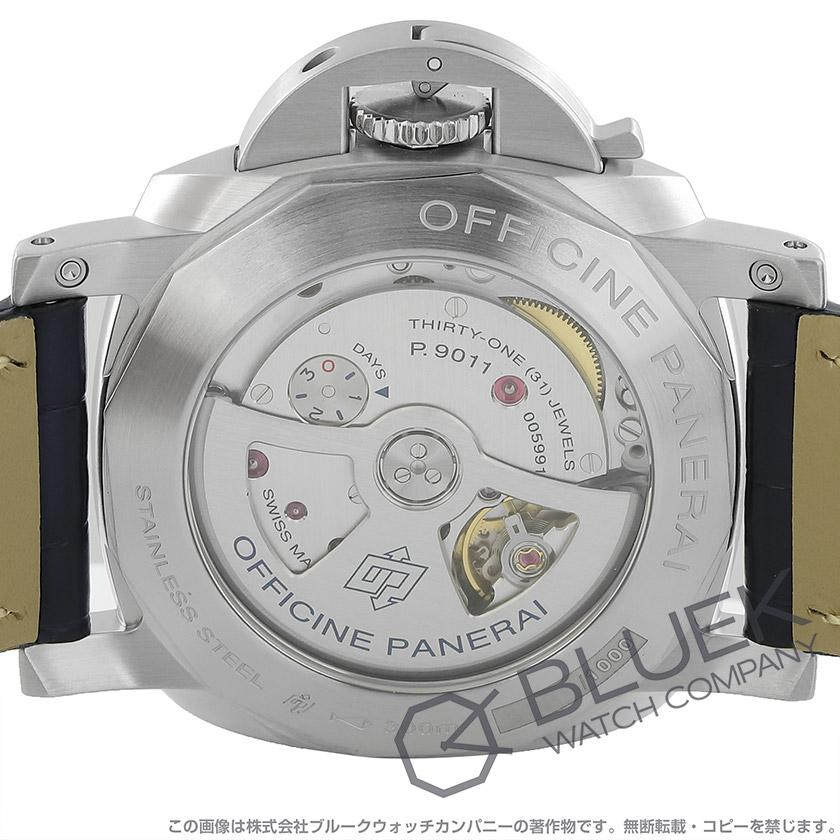 パネライ ルミノール GMT パワーリザーブ 300m防水 アリゲーターレザー メンズ PAM01033