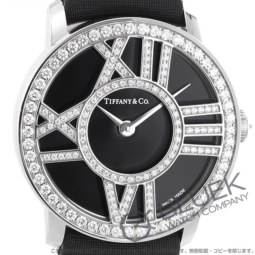 ティファニー アトラス ダイヤ WG金無垢 サテンレザー 腕時計 レディース TIFFANY Z1900.10.40E10A40B