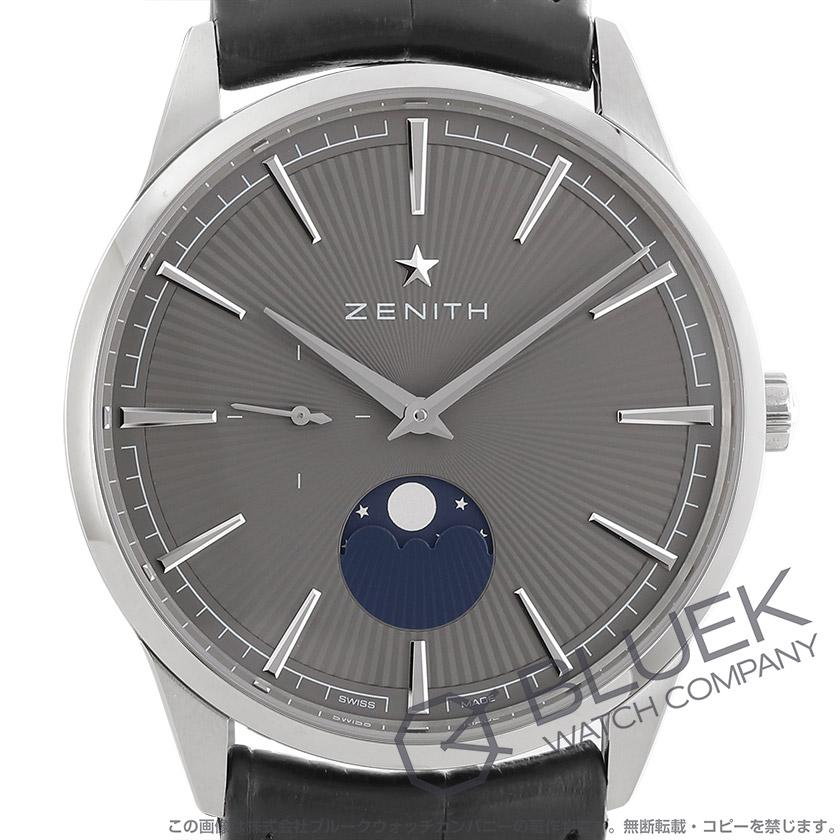 ゼニス エリート ムーンフェイズ アリゲーターレザー 腕時計 メンズ Zenith 03.3100.692/03.C923